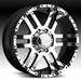 17 Inch Ram Eagle 079 Black Wheels