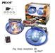 2 x Pilot Oval Universal Blue Lens Fog Lights Kit with Light Bulbs