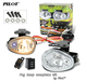 2 x Pilot Oval Universal Clear Lens Fog Lights Complete Kit
