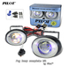 2 x Pilot Oval Universal Ion Lens Fog Lights Kit with Light Bulbs