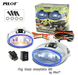2 x Pilot Universal Blue Lens Fog Lights Kit with Light Bulbs