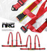 2X Red 4 Point Racing Seat Belts Harness