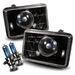 4x6 Projector Headlights - Black H4651 H4652 H4656 H4666