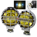 "6.3"" Yellow 4x4 Off Road Fog Lights - Chrome w/ Switch"