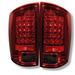 Dodge Ram 02-05 Led Euro Tail Lights - Red Smoke