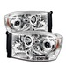 Dodge Ram 06-08 Halo Led Projector Headlights - Chrome