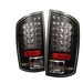 Dodge Ram 07-08 Led Tail Lights - Black
