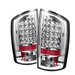 Dodge Ram 07-08 Led Tail Lights - Chrome