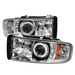 Dodge Ram 94-01 1Pc Ccfl Led Projector Headlights - Chrome