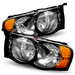 Ram 1500/2500/3500 2002-2005 Black Crystal Housing Headlights