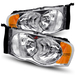 Ram 1500/2500/3500 2002-2005 Chrome Crystal Housing Headlights