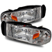 Ram 1994-2001 Headlights - Chrome Crystal 1 Piece Style