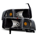 Ram 1994-2001 Headlights With Corner Lights - Black