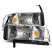 Ram 1994-2001 Headlights With Corner Lights - Chrome