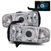 Ram 1994-2001 LED CCFL Halo Projector Headlights - Chrome