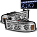 Ram 1994-2001 LED Strip Halo Projector Headlights - Chrome