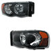 Ram 2002-2005 Euro Clear Black Headlights