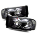 Ram 2002-2005 Headlights - Black