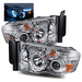 Ram 2002-2005 LED CCFL Halo Projector Headlights - Chrome