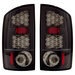Ram 2002-2006 Euro LED Tail Lights Black