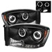 Ram 2006-2008 LEDV2 Halo Projector Headlights Black
