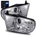 Ram 2009-2010 LED Halo Projector Headlights - Chrome