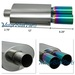 "T304 Stainless Steel Muffler W/Dual 3"" Flat Color Tips"