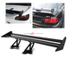 Universal Aluminum GT Spoiler Wing - Black Type I Style