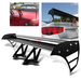 Universal Aluminum GT Spoiler Wing - Black Type S Style