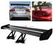 Universal Aluminum GT Spoiler Wing - Black Type V Style