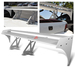 Universal Aluminum GT Spoiler Wing - Silver Type III Style
