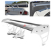 Universal Aluminum GT Spoiler Wing - Silver Type S Style
