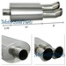 "Universal DTM Style Stainless Muffler Dual 3"" Color Tip"