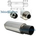 "Universal Muffler & CF Tip W/ Silencer 2.5"" In 4"" Out"