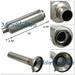 Universal Muffler W/Silencer 60mm Inlet 90mm Flat Tip