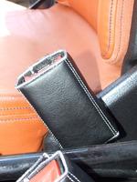 2 Plain Black Seat Belt Lock Covers