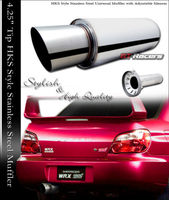 "4.25"" JDM Slant Titanium Turbo Muffler"