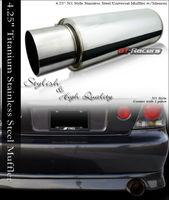 """4"""" Titanium Turbo Muffler Exhaust"""