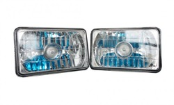 4x6 Projector Headlights - Chrome H4651 H4652 H4656 H4666