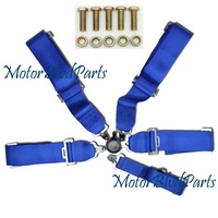 5Point Cam Lock 3-Inch Safety Racing Seat Belt Blue