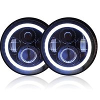 7 Inch LED Headlight Sealed Beam Replacement Halo Ring