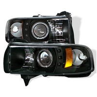 Dodge Ram 94-01 1Pc Ccfl Led Projector Headlights - Black