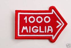 Mille Miglia Race Patch Badge