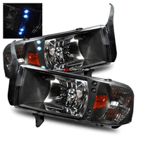 Ram 1994-2001 1 Piece LED Headlights - Black