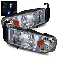 Ram 1994-2001 1 Piece LED Headlights - Chrome