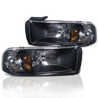 Ram 1994-2001 Black 1PC Headlights