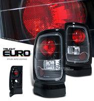 Ram 1994-2001 Euro Crystal Altezza Tail Lights Black