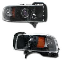 Ram 1994-2001 LED Halo Projector Headlights Black