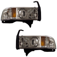 Ram 1994-2001 Projector Headlights Chrome