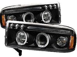 Ram 1994-2001 Projector Headlights LED Lights Black
